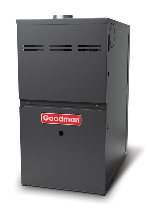 Goodman 3 Ton 14 SEER 80% AFUE 80,000 BTU Gas Furnace and Air Conditioner System - Downflow