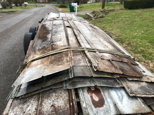 100 year old Reclaimed barn metal Just $40 per sheet ( 8ft-40ft long)