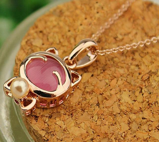 Cat Eye Stone Pendant - myanimal-jewelry.com