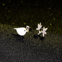 Load image into Gallery viewer, Creative Branch Bird Ear Stud - myanimal-jewelry.com