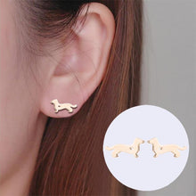 Load image into Gallery viewer, Dog Stud Earrings - myanimal-jewelry.com