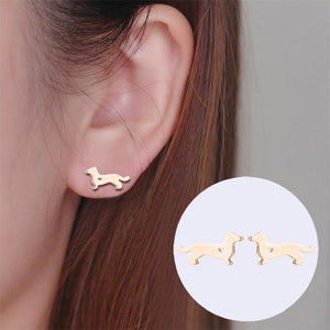 Dog Stud Earrings - myanimal-jewelry.com