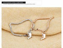 Load image into Gallery viewer, Dolphin Charm Bracelet - myanimal-jewelry.com