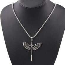 Load image into Gallery viewer, Fashion Vintage Sword With Eagle Wings Pendant Necklace - myanimal-jewelry.com