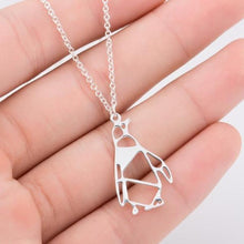 Load image into Gallery viewer, Lucky Arctic Origami Penguin Necklace - myanimal-jewelry.com