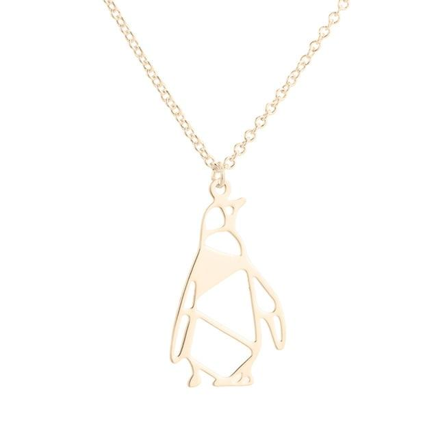 Lucky Arctic Origami Penguin Necklace - myanimal-jewelry.com