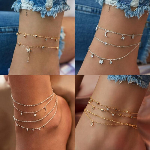 Multilayer Butterfly Anklet - myanimal-jewelry.com