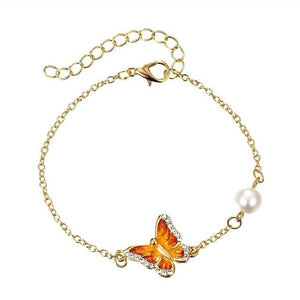 Oil Painted Butterfly Charm Bangles - myanimal-jewelry.com