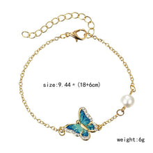 Load image into Gallery viewer, Oil Painted Butterfly Charm Bangles - myanimal-jewelry.com