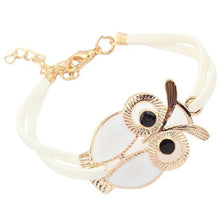 Load image into Gallery viewer, Owl Leather Bracelet - myanimal-jewelry.com