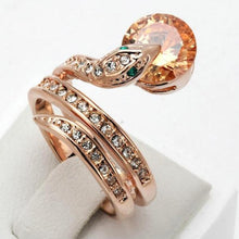 Load image into Gallery viewer, Snake Show Bead Ring - myanimal-jewelry.com