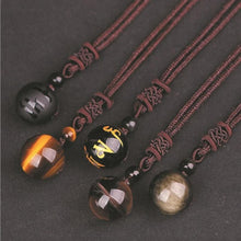 Load image into Gallery viewer, Tiger Eye Stone Pendant Necklace - myanimal-jewelry.com