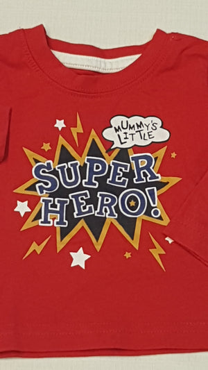 EARLY DAYS SUPER HERO FELIRATOS,HOSSZÚUJJÚ UNISEX PÓLÓ 56-62