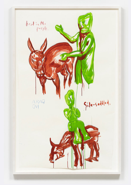 Painting of gumby by pettibon