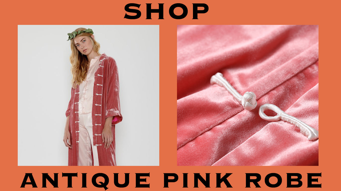 product graphic pink robe. shop.