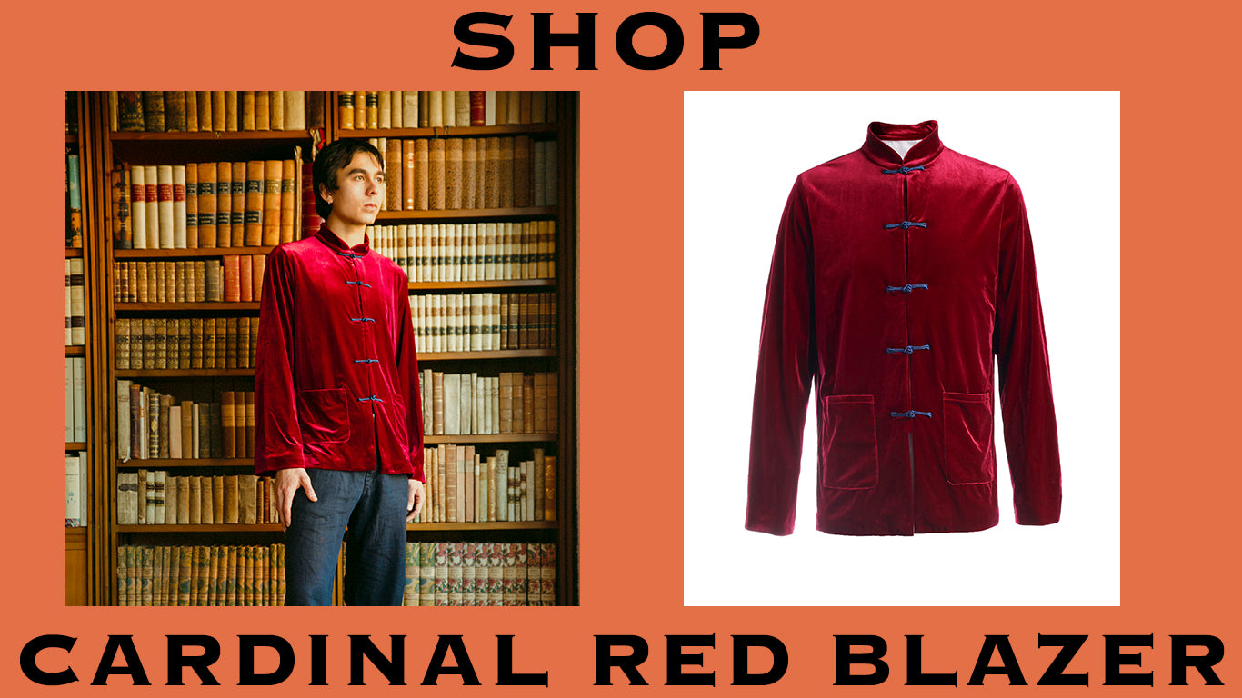 Product Graphic to shop YALI Cardinal Red Blazer from YALI Core Collection
