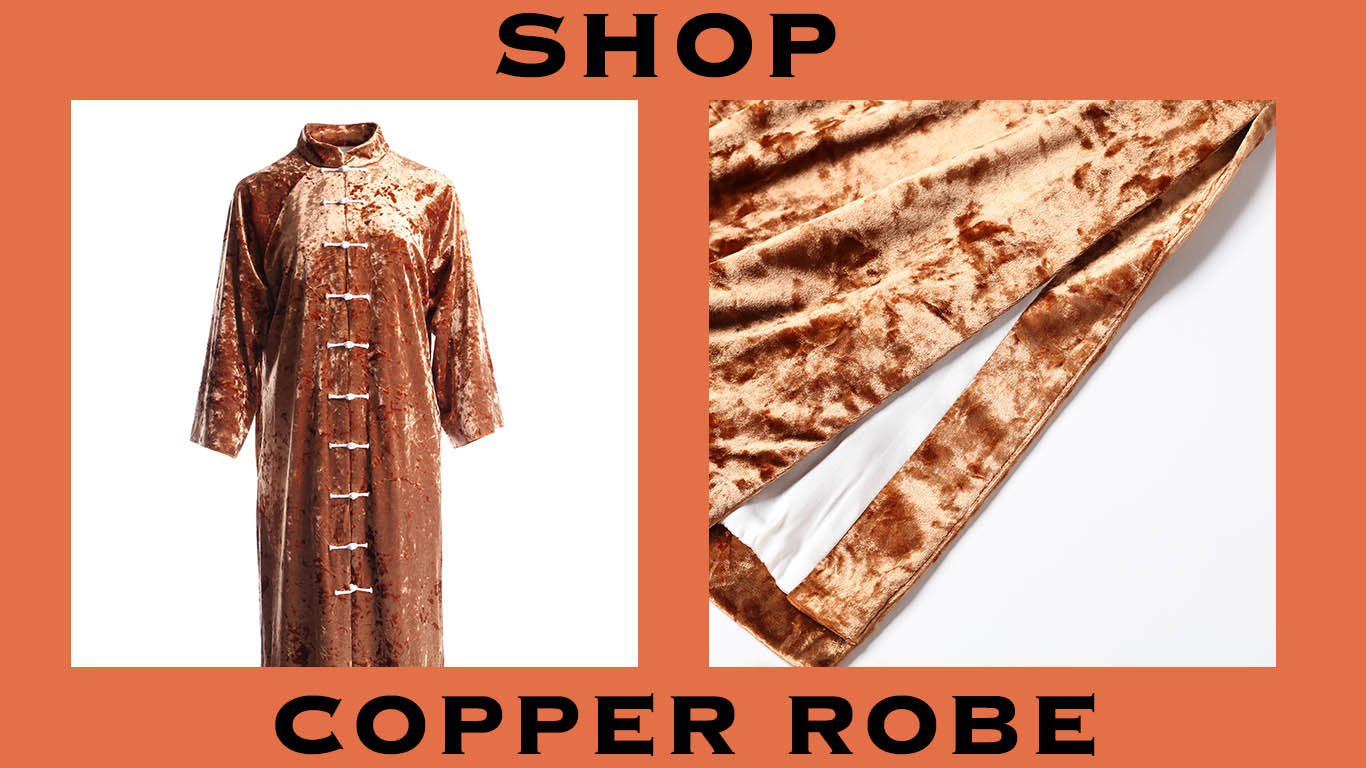 product graphic of copper robe