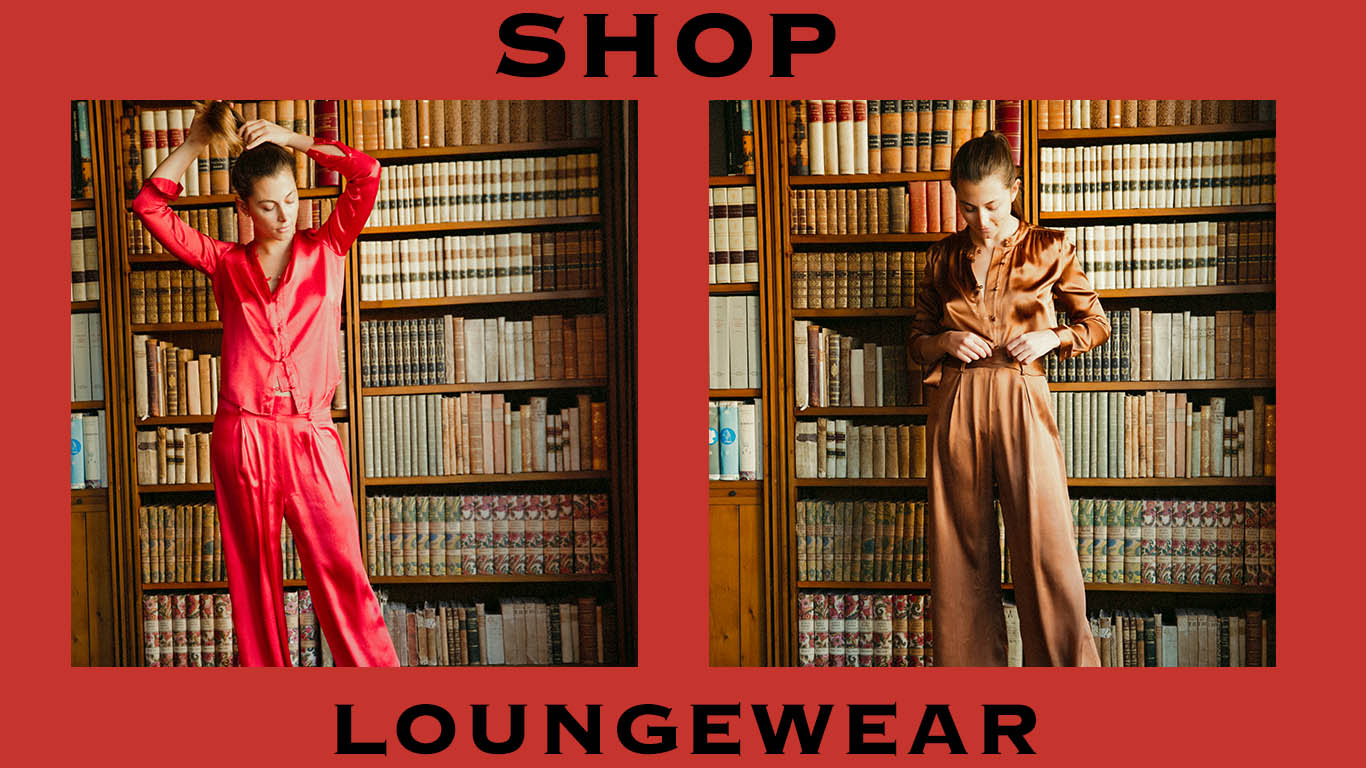 product graphic of yali loungewear. shop.