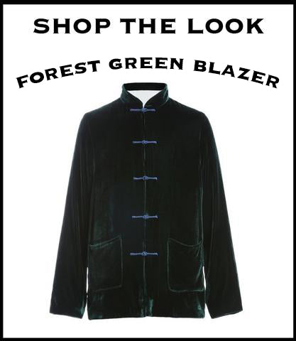 product graphic of forest green blazer
