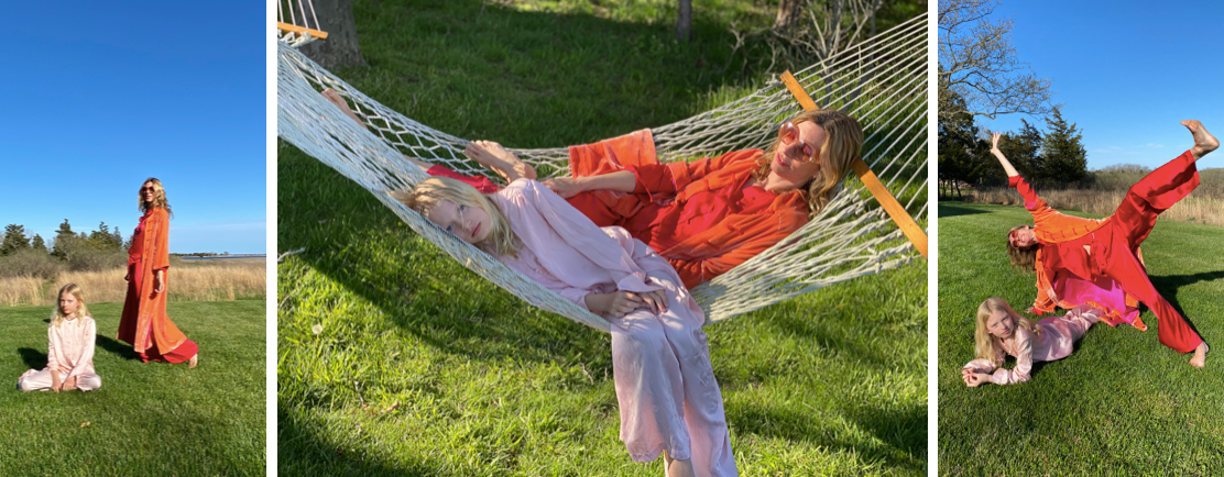 julia and her daughter in hammock