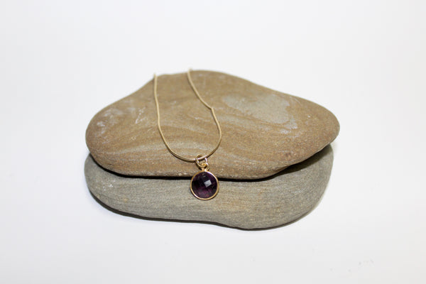 Bezel Amethyst Pendant - U Are Unique Jewellery