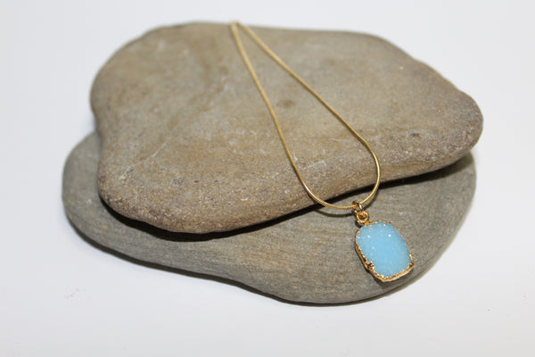Blue Druzy Necklace - U Are Unique Jewellery