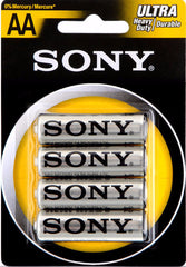 Sony AA 4 Pack Ultra Heavy Duty Retail Pack (SUM3-NUB4A)