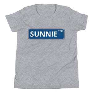 YOUTH Blue Street Sign tee