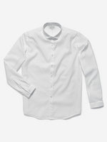 HWhite Mens Dress Shirt - Crisp White with Athletic Mesh