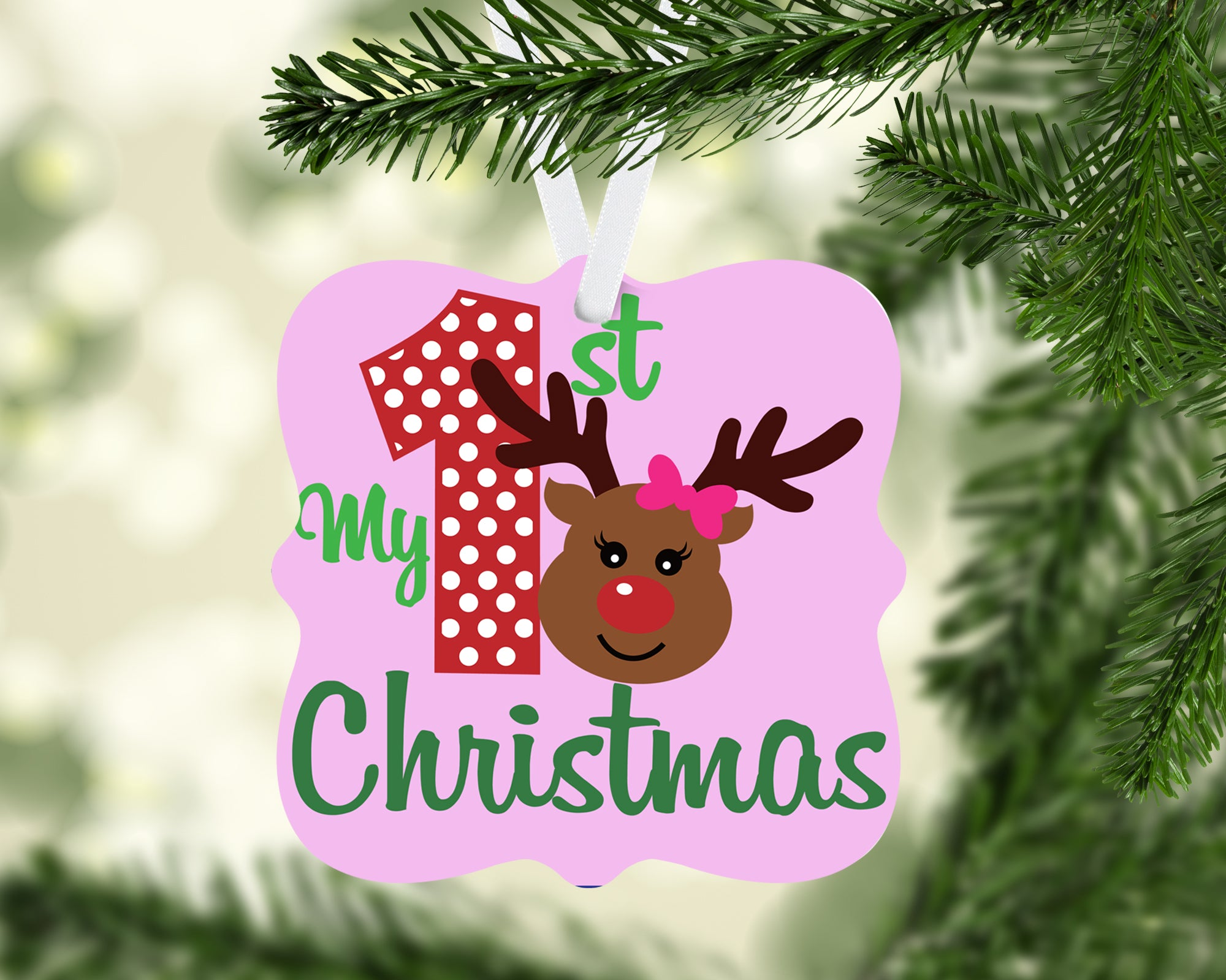 Reindeer My First Christmas Ornament Kreative Journey Gifts And More