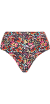 Allure High Waist Bottom in Red Butterfly Print