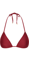 Monarch Bikini Top in Burgundy