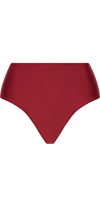 Allure High Waist Bottom in Burgundy