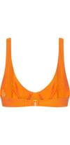 Captivated Underwire Bikini Top in Orange