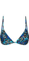 Voyager Bikini Top in Blue Butterfly Print