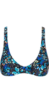 Captivated Underwire Bikini Top in Blue Butterfly Print