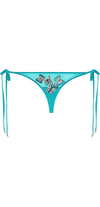 Siren Mesh Brazilian Bottom in Teal
