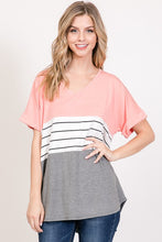 Load image into Gallery viewer, Carolina Stripe Blouse -2 Colors