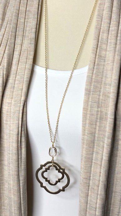 Quatrefoil Pendants Necklace
