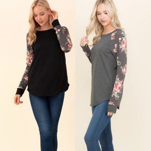 Addison Floral Blouse-2 Colors