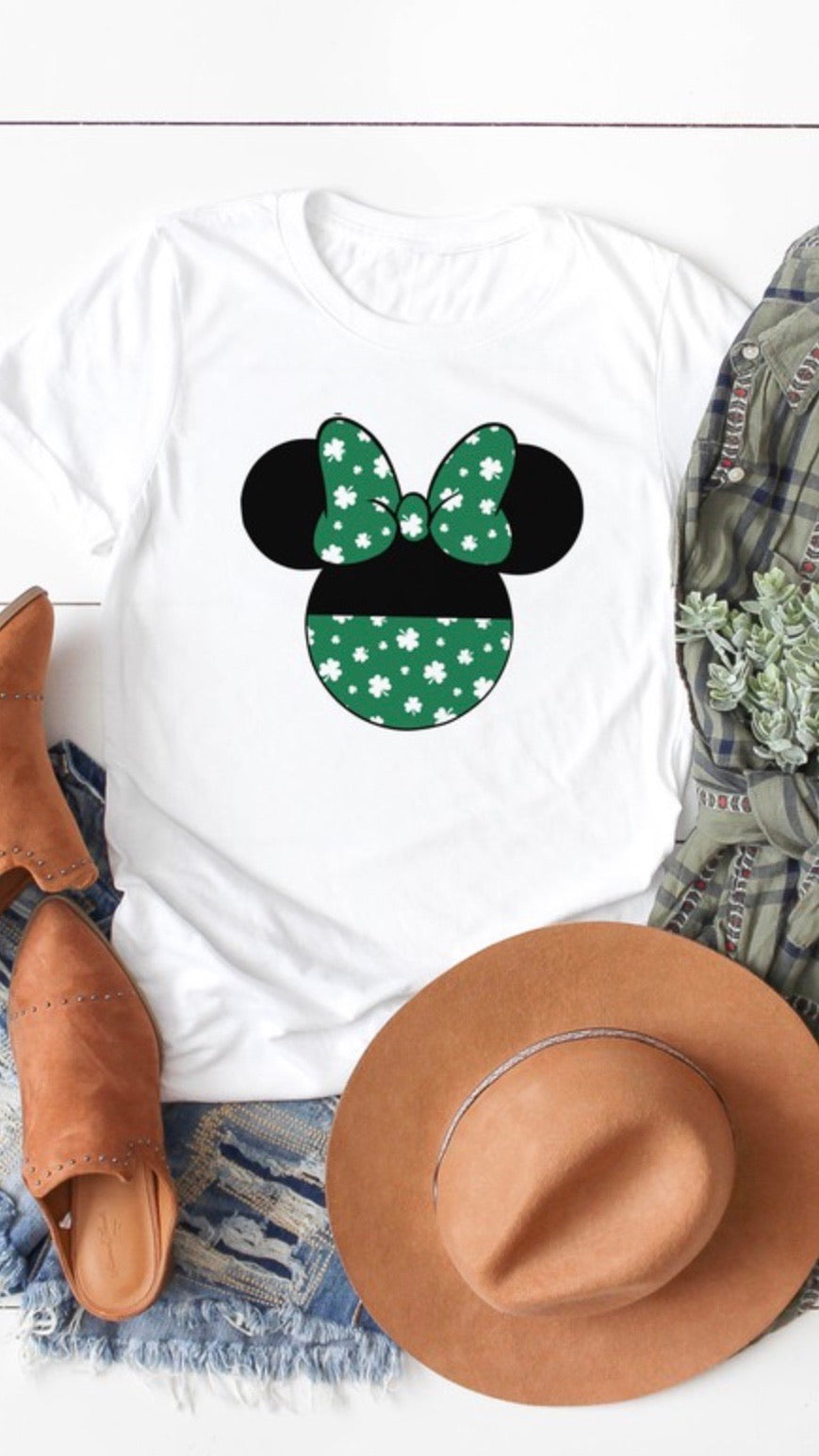 Minnie Mouse Shamrock Tee