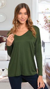 Shelly Olive Top
