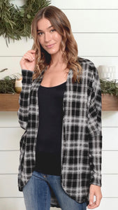 Savannah Plaid Cardigan