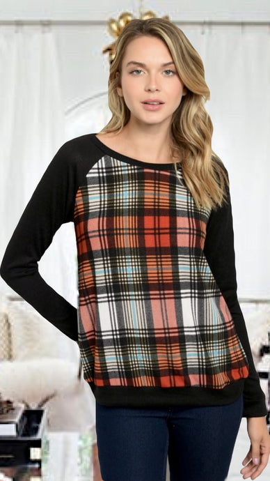 Monica Plaid Blouse