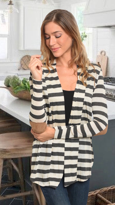 Kathryn Charcoal Cardigan