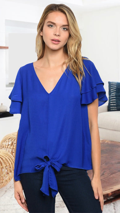 Cassidy Blue Blouse