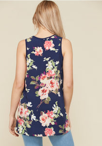 Molly Floral Tank -2 Colors