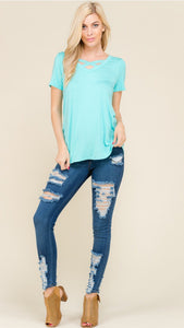 Lillian Crisscross Blouse