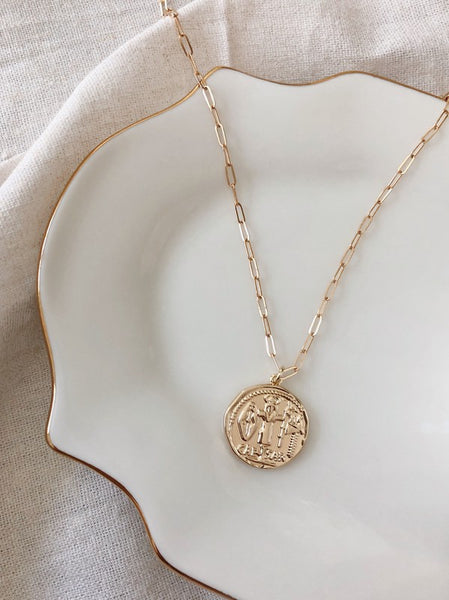 Caeser Coin Necklace