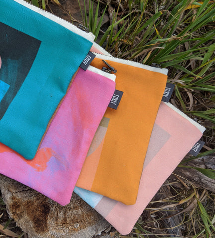 Robyn A. Frank pouch collection for Foxly Handmade